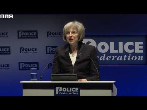 "Theresa May calls fears of police cuts ""scaremongering"""