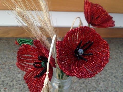 Маки из бисера схемы плетения пошагово