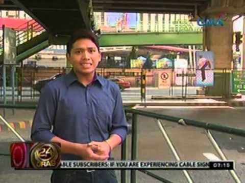 24 Oras: Babaeng tumatawid sa halos burado nang pedestrian lane, nabundol ng motorsiklo