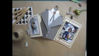 Скрапбукинг / обзор открыток / влюбленным / мужские открытки
