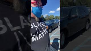 Voting in Forsyth County, GA with a Black Lives Matter shirt on
