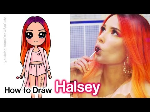 how-to-draw-halsey-|-boy-with-luv-bts