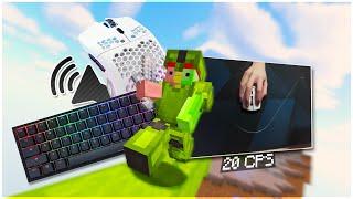 [144 FPS] Keyboard + Mouse Sounds (Handcam) | Hypixel Bedwars Dúos