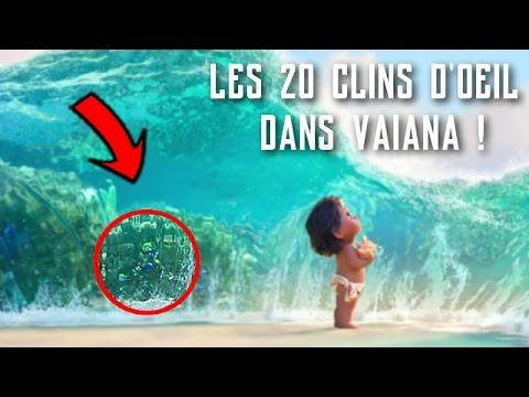 LES 20 CLINS D'ŒIL DANS VAIANA À D'AUTRES FILMS DISNEY !