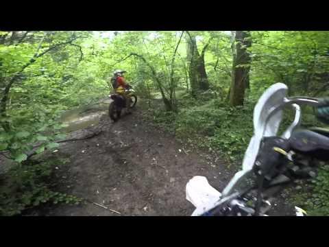dirt bike action