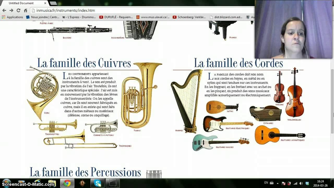 Top Les familles d'instruments Amélie - YouTube OU97
