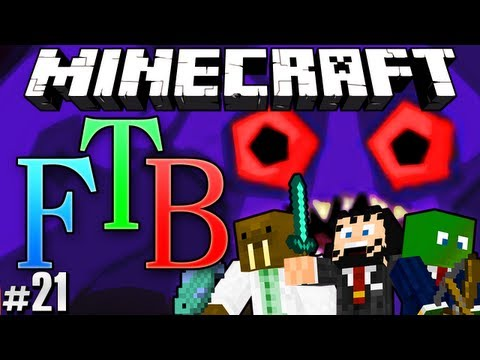 Minecraft Feed The Beast #21 - Giant Angry Zombie