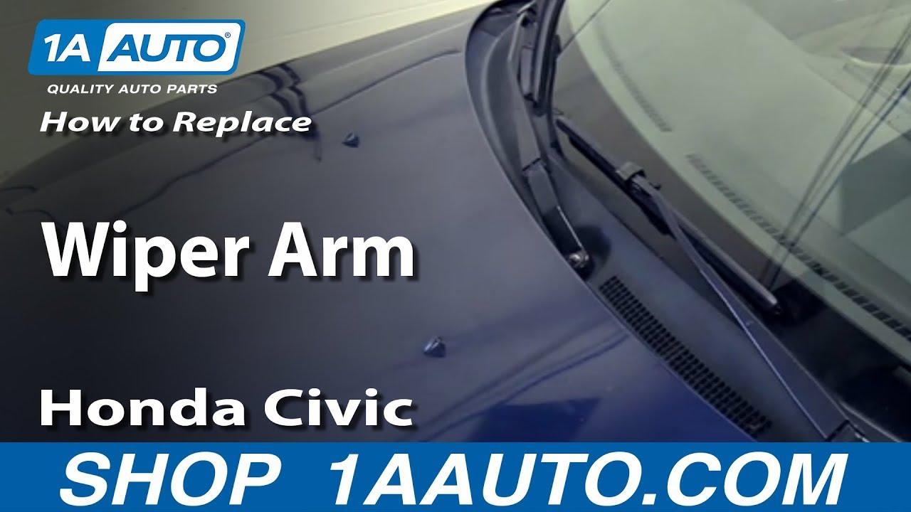 how to replace install wiper arm 2001-05 honda civic - youtube