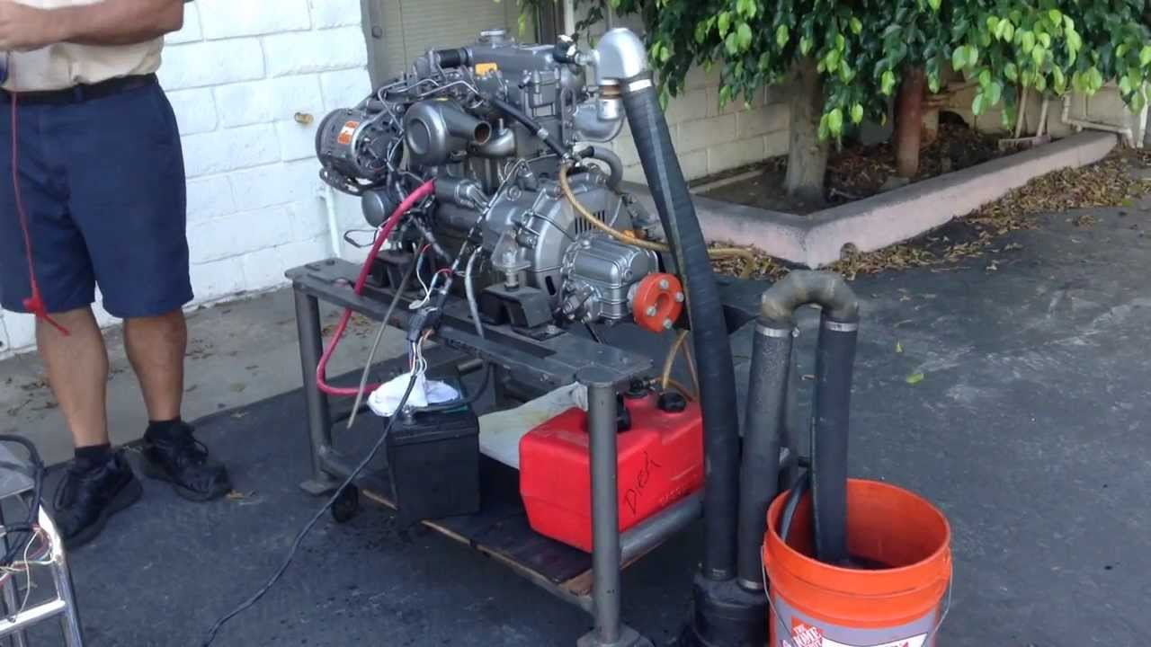 Yanmar marine Diesel engine, 3 cylinder, 30 hp  HQ (1080p) - YouTube