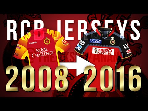 Royal Challengers Bangalore Jersey Evolution | 2008-2016