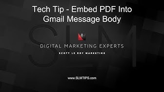 Gmail Tip - How To Embed A PDF Flyer Into The Body Of A Message Rather Than An Attachment