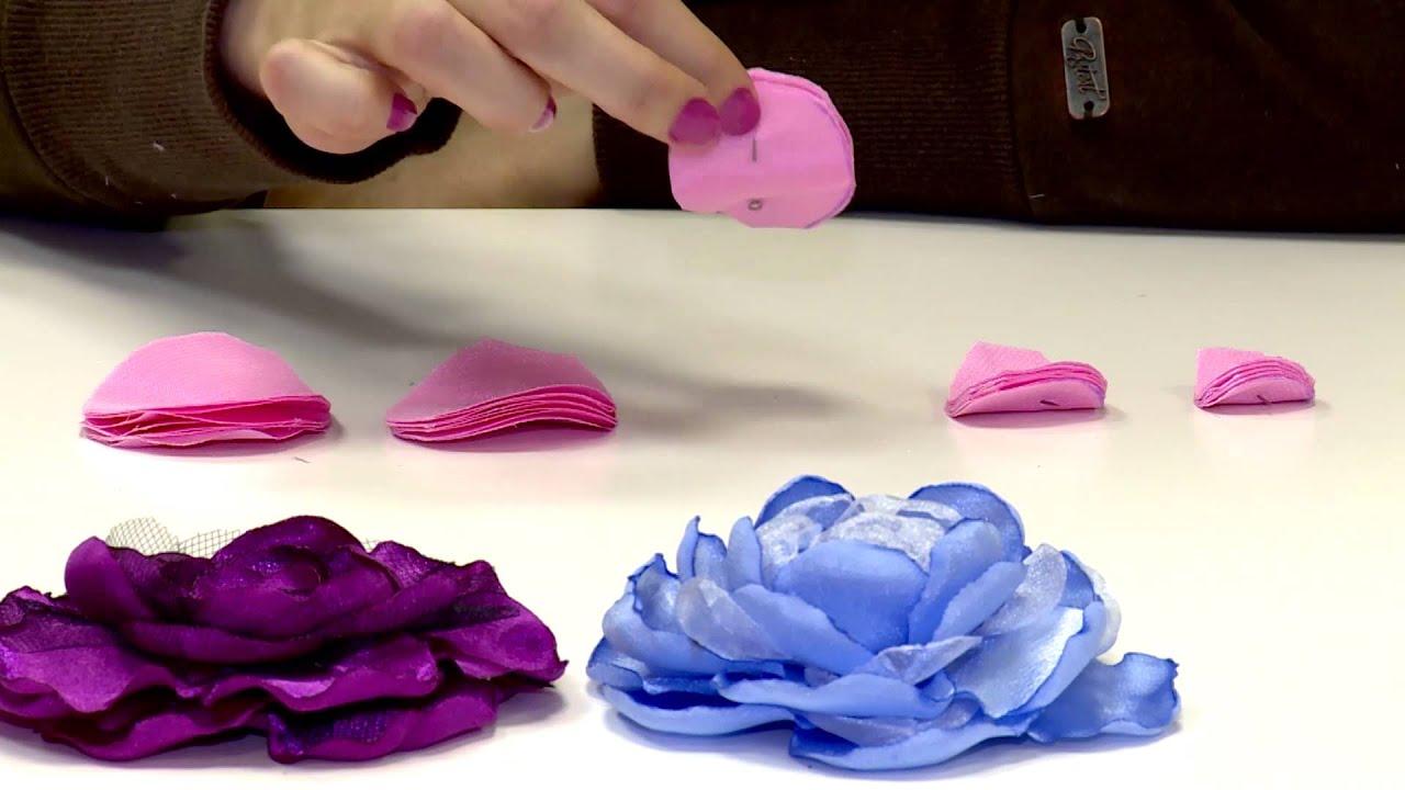 Брошь цветок из шифона своими руками фото 796
