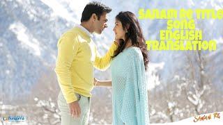 Sanam Re - Title track lyrics translation||Pulkit Sharma||Yami Gautam||Urvashi Rautela||Arjit Singh|