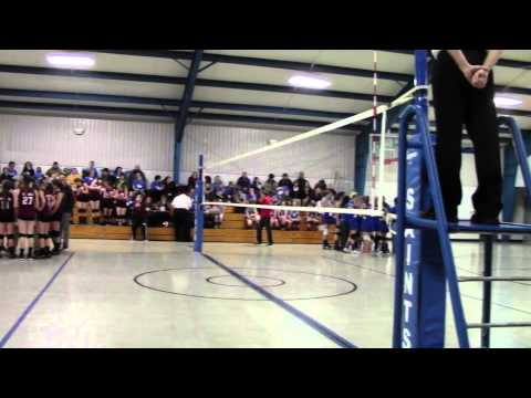 2/25/2014 Volleyball Nuttall Middle School vs. St. Thomas - Set 1