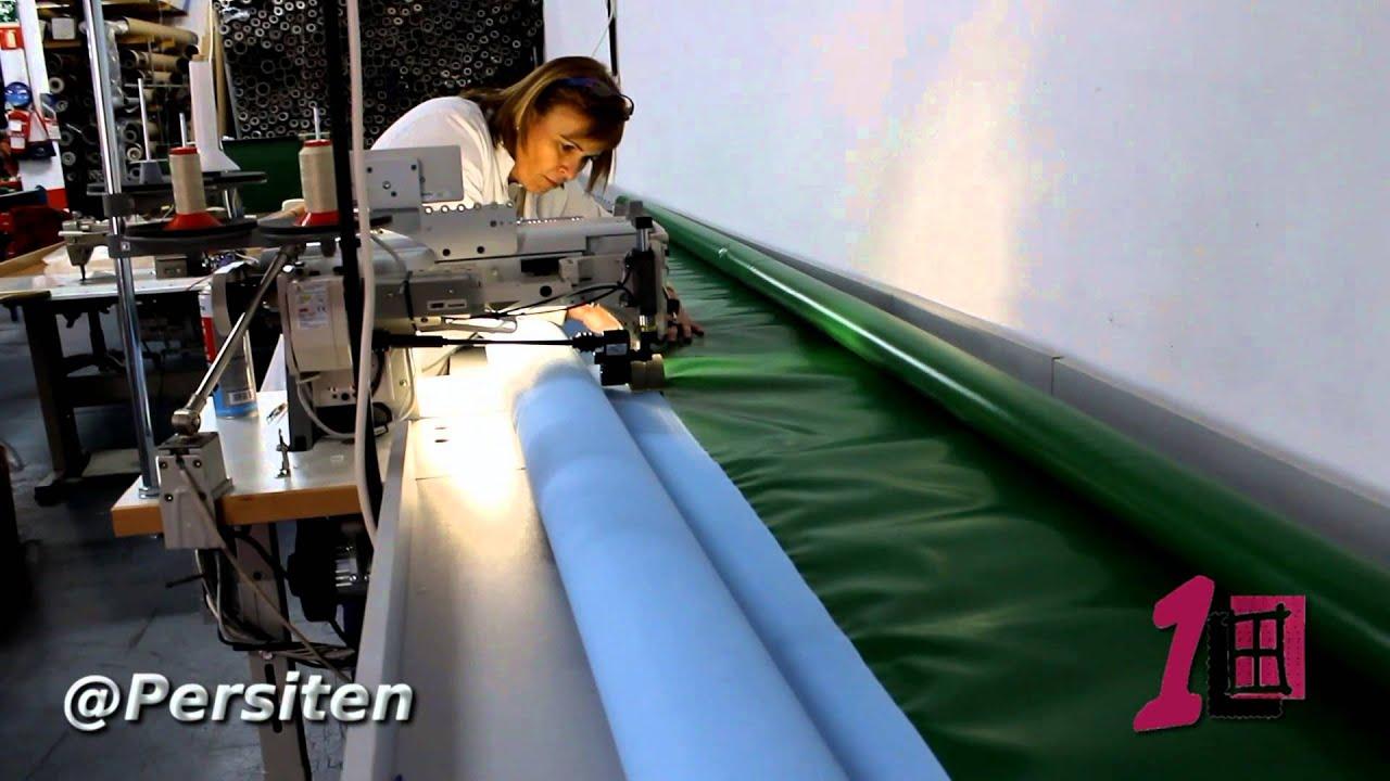 Persit n presenta su m quina para coser metros y metros for Maquina para toldos