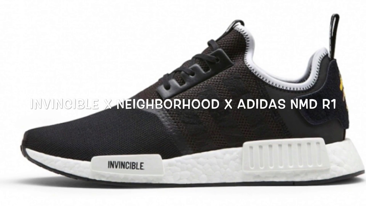 another chance 39a5b fa663 INVINCIBLE X NEIGHBORHOOD X ADIDAS NMD R1 REVIEW AND RELEASE DETAILS