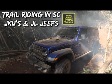 Riding the Trails of Northern South Carolina ( New Jeep Wrangler JL & JKU's ) Overland Jeeps