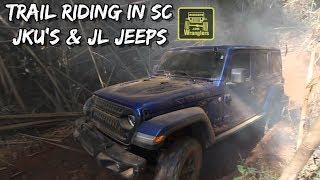 Riding the Trails of Northern South Carolina ( New Jeep Wrangler JL & JKU's ) Overland Jeeps