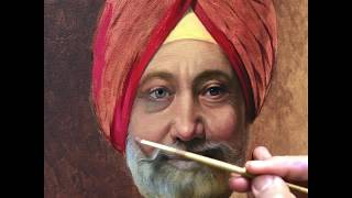 Portrait of A Sikh Gentleman - PART ONE - Oil on linen