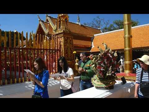 We visit Wat Phra That Doi Suthep near Chiang Mai in Thailand. Part 4