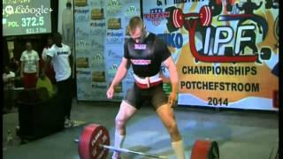 372.5kg Deadlift @93kg - Krzysztof Wierzbicki IPF World Record (4x body weight)