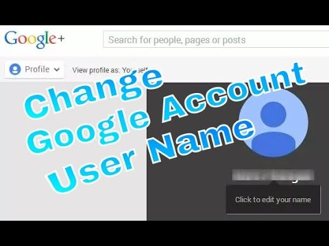 how to change google account gmail username with your android pc