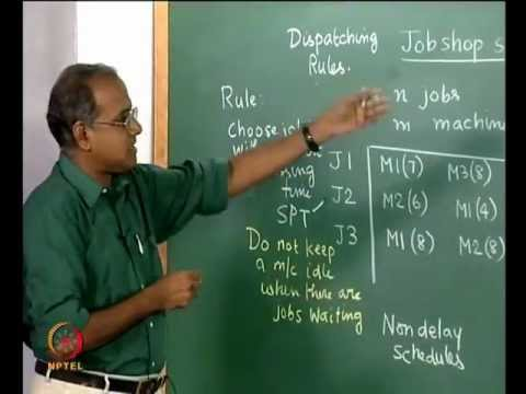Mod-07 Lec-28 Job shop scheduling -- Gantt chart, Different