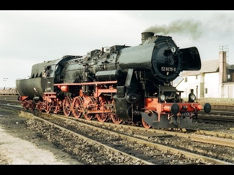 Lokportät Dampflok 52 8075