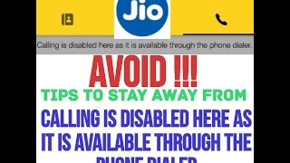 avoid tips calling is disabled what not to do to stay away jio4gvoice app