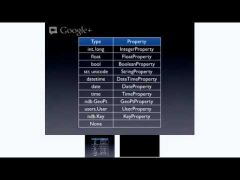 O'Reilly Webcast: Data Modeling for Google App Engine using Python and ndb