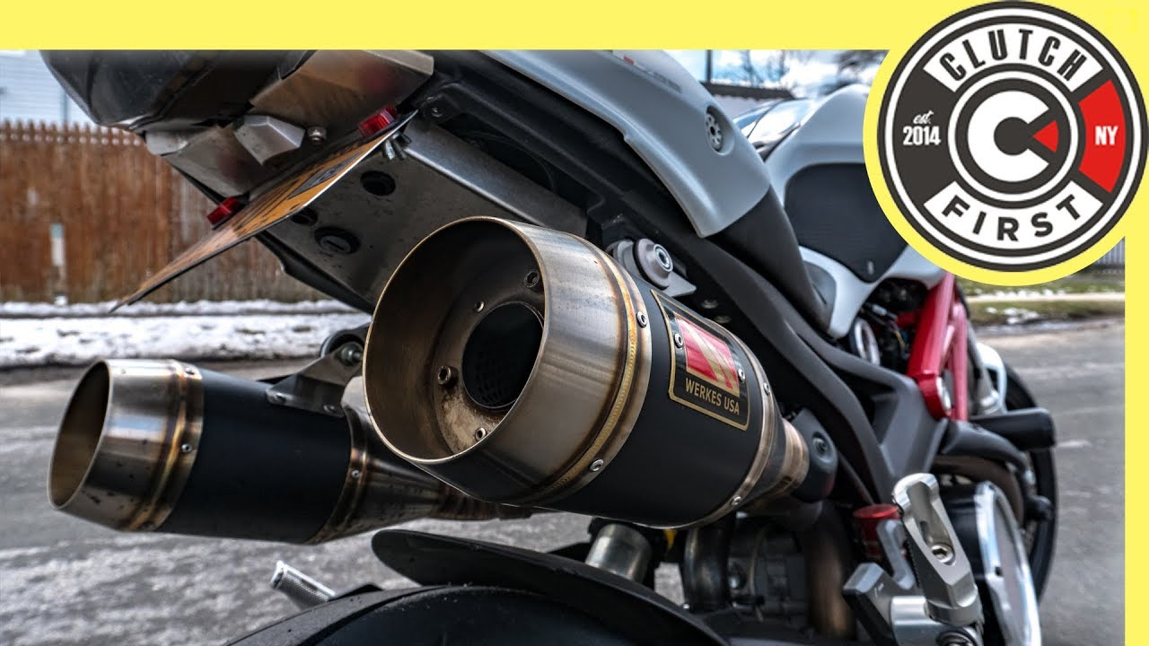 how to install competition werkes gp exhaust ducati monster