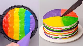 12+ Quick & Creative Rainbow Cake Decorating Ideas | So Yummy Dessert Tutorials For Your Family!