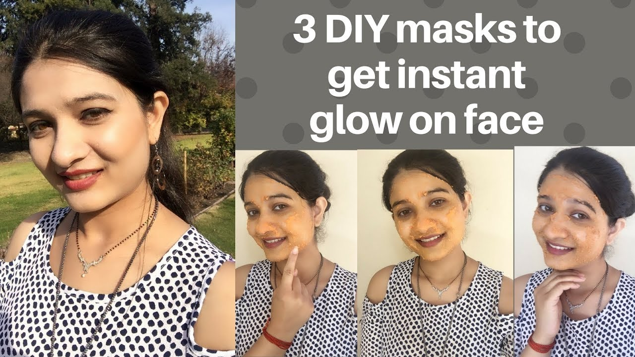 Domino Art Diy Face Mask To Get Instant Glow On Face In Hindi Instant Skin Glow Brightening Avni Youtube A V N I