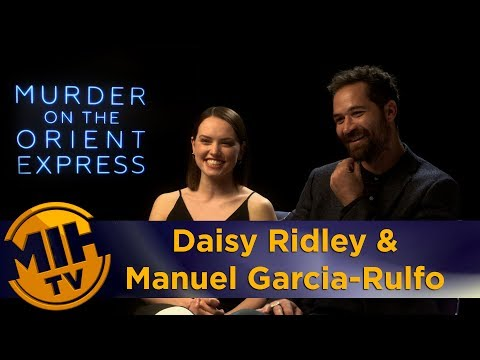 Daisy Ridley & Manuel Garcia-Rulfo Murder on the Orient Express Interview