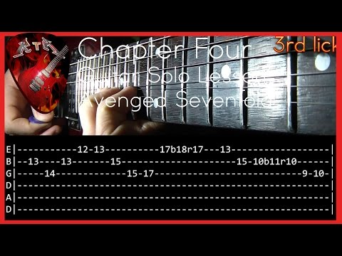 Chapter Four Guitar Solo Lesson - Avenged Sevenfold (with tabs)
