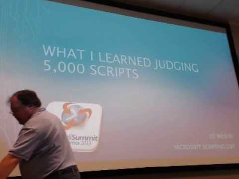 What I learned Judging 5000 Scripts - Ed Wilson - PowerShell Summit 2013