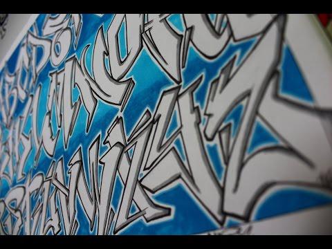 Abecedario graffiti wild style doovi - Graffitis en papel ...
