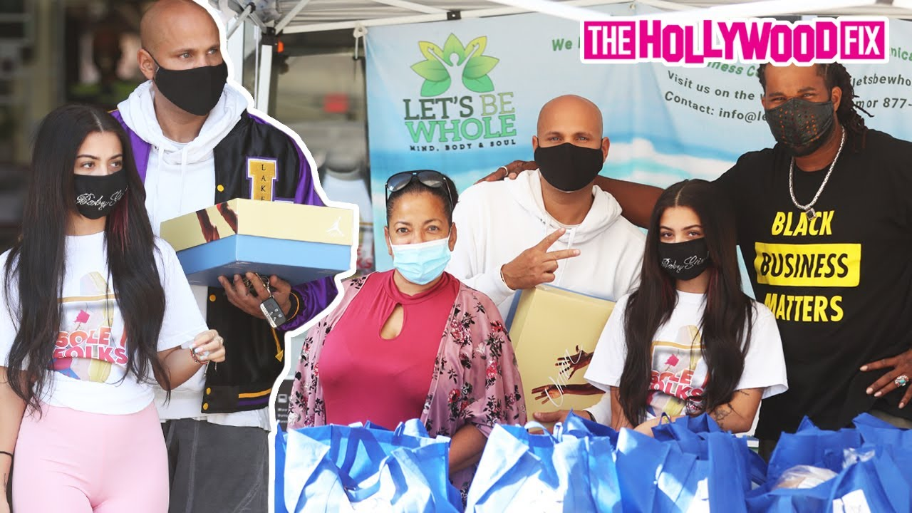 Malu Trevejo Gives Back To The Community At The Sole Folks Organic Food Giveaway In Los Angeles