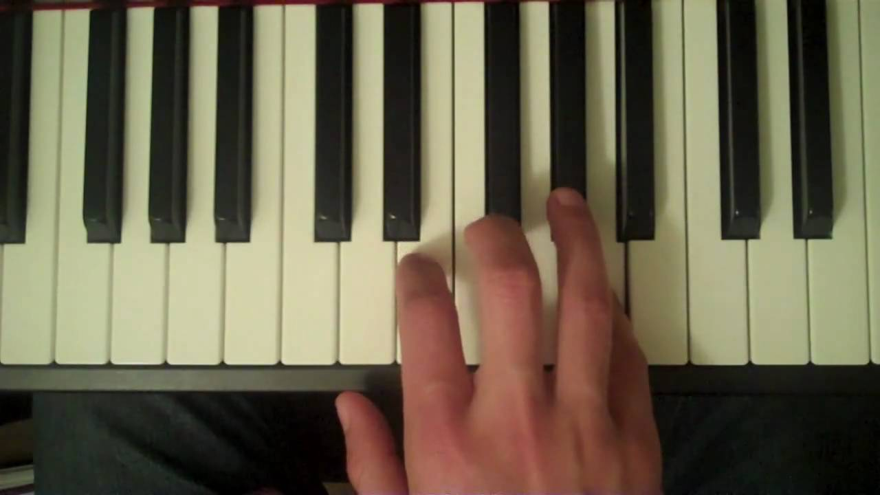 how to play f scale on piano