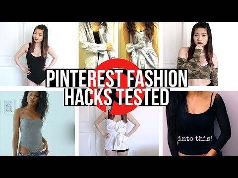 I TESTED 3 POPULAR PINTEREST FASHION DIY HACKS  | Eva Chung