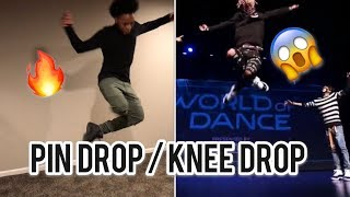 How to do Pin Drop  Knee Drop Dance ( Knee Drop like Ayo and Teo )