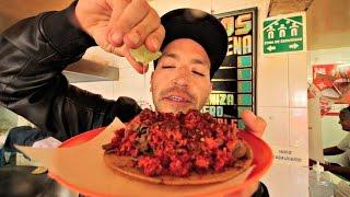 Tacos de riñon con longaniza en la morena