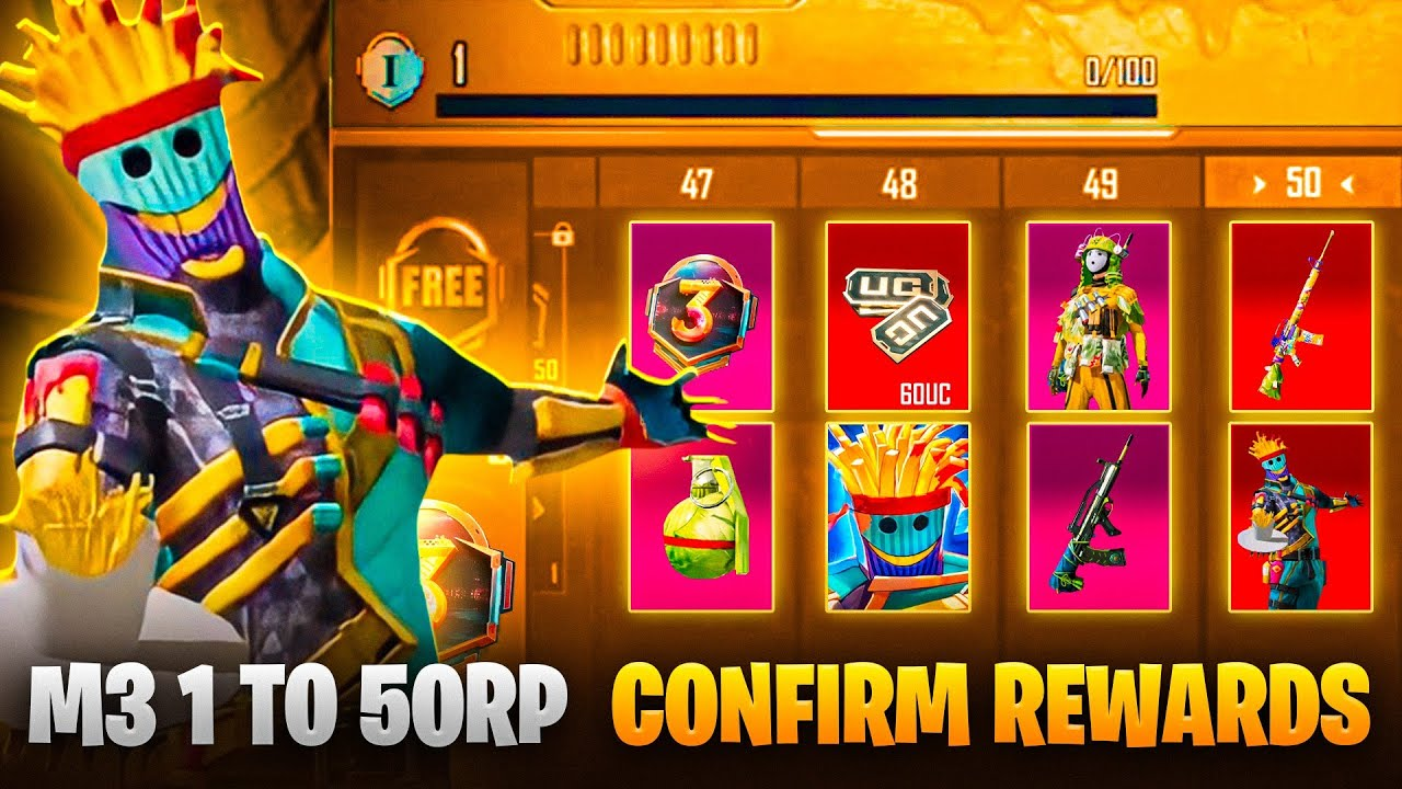 Download M3 Royale Pass 1 to 50 Rp Reward | Confirm Rewards | C1S2 M1 | Chefs Special | M3 Royal pass