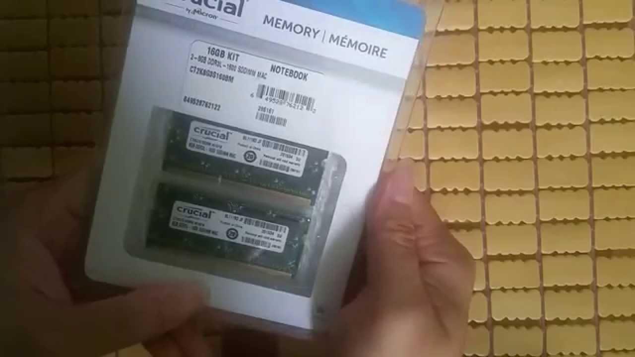 New 2015 Crucial 16gb Ddr3 Ddr3l 204 Pin Sodimm Memory For Mac