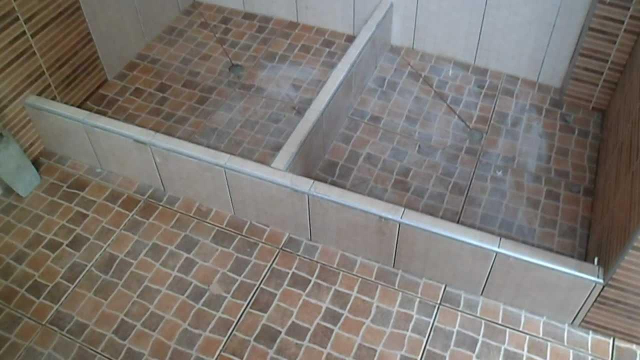 Enchape de muro de ducha economizando tiempo 5 youtube - Duchas con muro ...