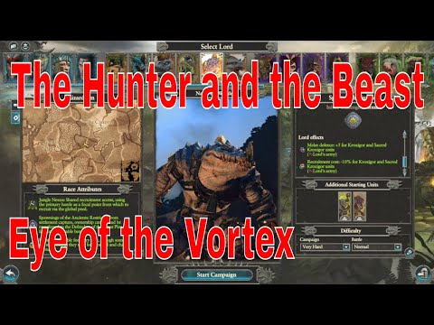 The Hunter and the Beast new Lords Eye of the Vortex starting positions. Total War Warhammer 2 |