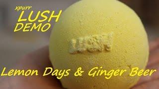 Lush Cosmetics Lemon Days & Ginger Beer Bath Bomb Demo + Underwater View Uk Kitchen