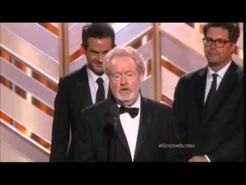 "Jim Carrey Presents Best Movie, Comedy Award To ""The Martian"" 