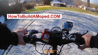 How To Break In a Brand New Engine First Ride How To Build a Motorized Bicycle Part 19