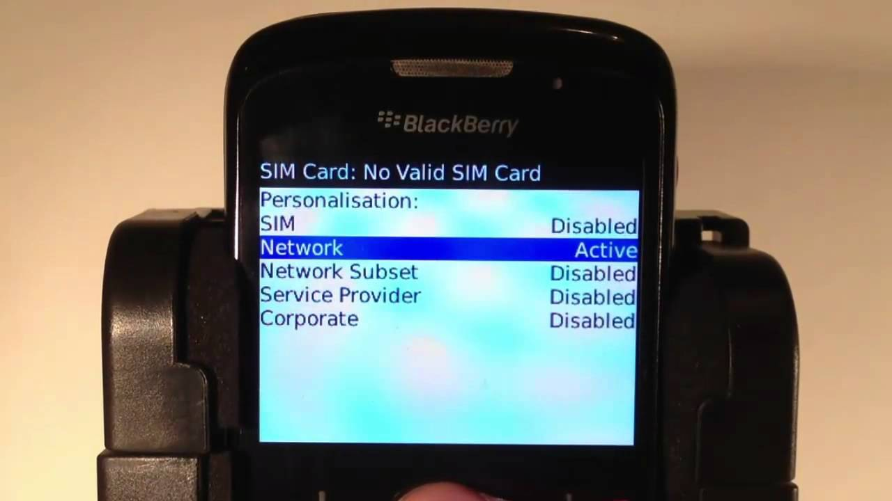 How to unlock a Blackberry Bold 9720 by code to all Networks